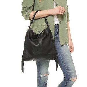 Rebecca Minkoff Clark fringe hobo leather bag